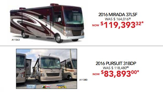 RV Fever Bill Plemmons Class A Sale