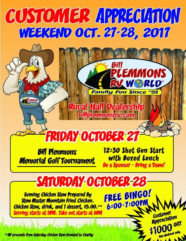 Bill Plemmons Chick Stew Customer Appreciation Sale Events