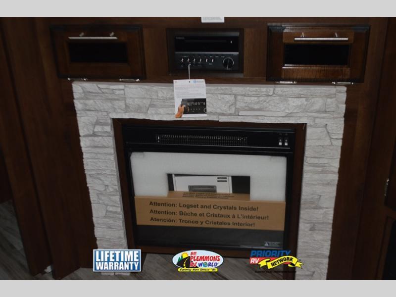 Jayco White Hawk Travel Trailer Fireplace