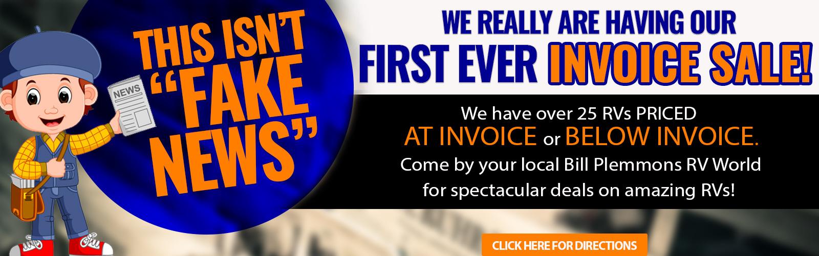 Bill Plemmons RV Invoice Sale