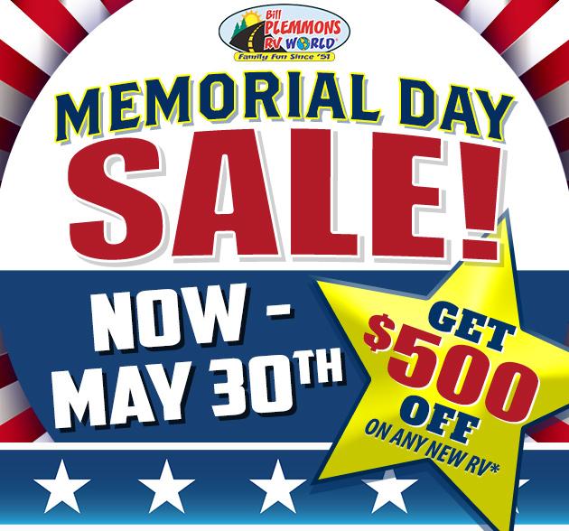 Memorial Day RV Sale